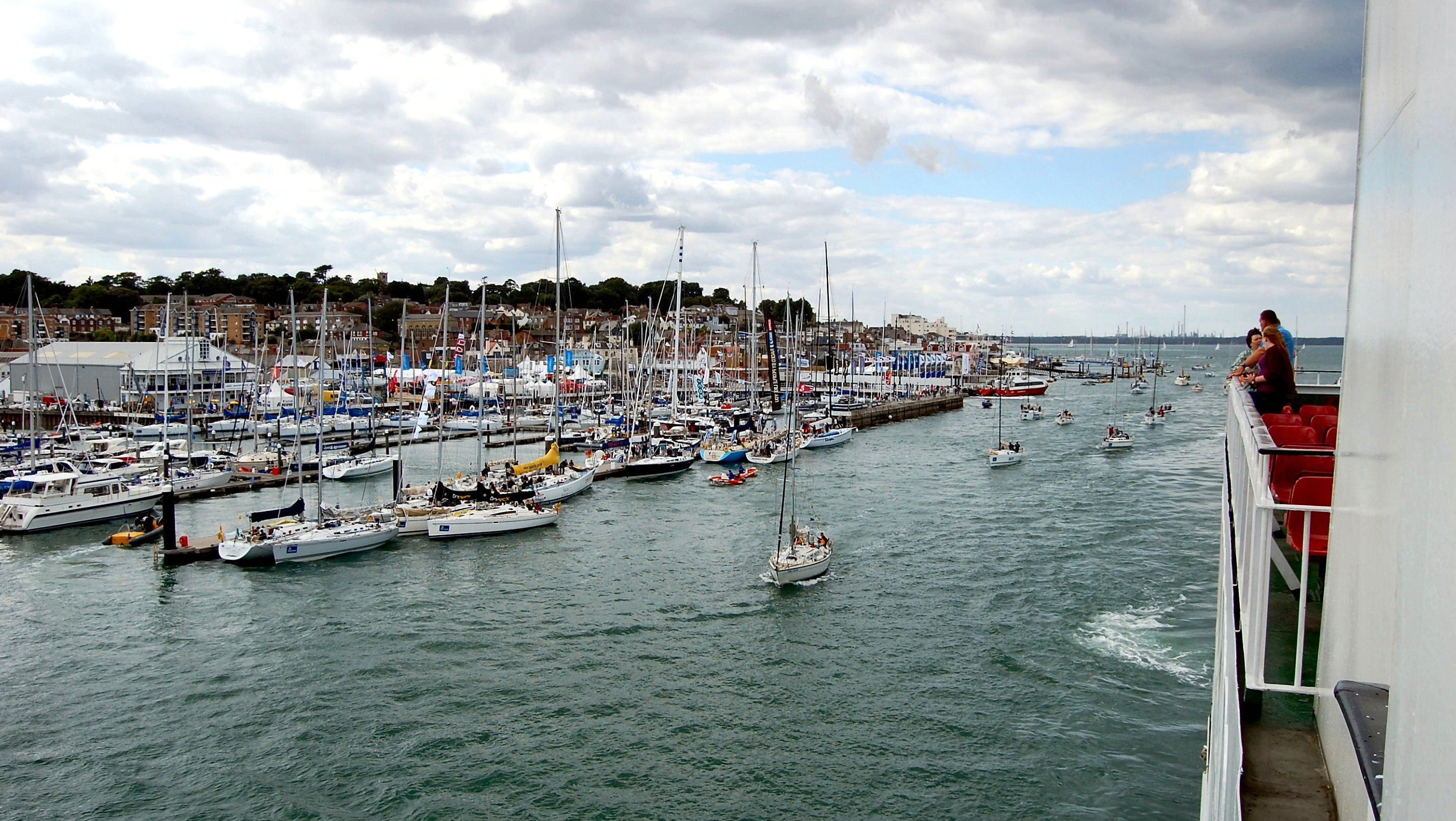 Isle of Wight ferry entering Cowes